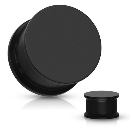 Plug do ucha silikon, černá barva (černá, 14 mm)