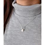 Perlový náhrdelník s řetízkem z pravých říčních perel bílý 22012.1 [5]
