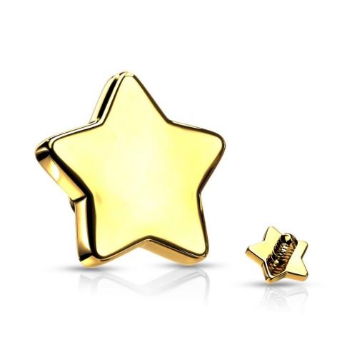 Náhradní hvězdička k labretě, rozměr 3 mm