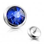 Ozdobný kamínek k mikrodermálu, průměr 4 mm, (tmavě fialová) [3]