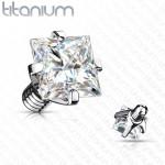 Náhradní kamínek k dermálu TITAN, závit 1,6 mm, 4mm, barva: čirá [0]