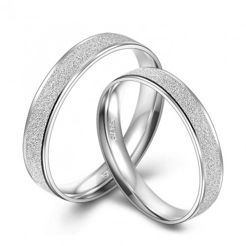NB102 Stříbrné snubní prsteny - pár