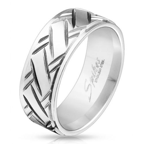 Pánský ocelový prsten (65)