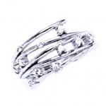 Stříbrný prsten se zirkony (2,24 g, 52) [0]