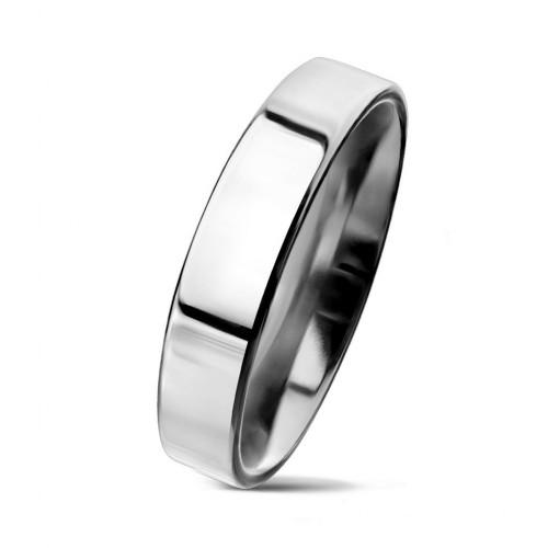 Ocelový prsten šíře 4 mm (49)