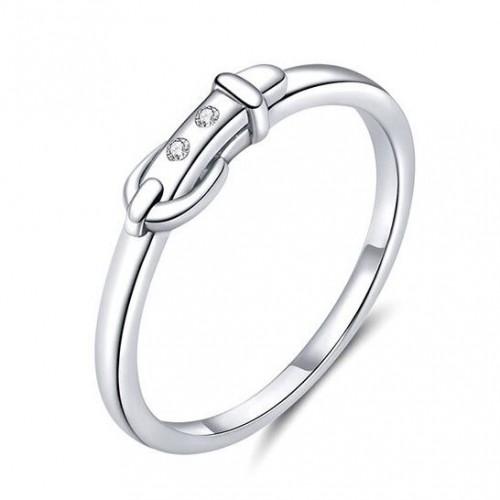 Stříbrný prsten pásek, vel. 52