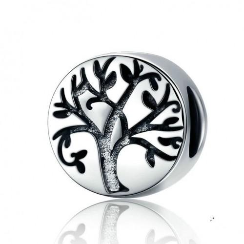 Stříbrný přívěsek korálek strom života