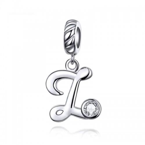 Stříbrný přívěsek korálek - písmeno Z