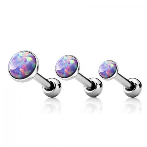 Cartilage piercing do ucha, opál fialový