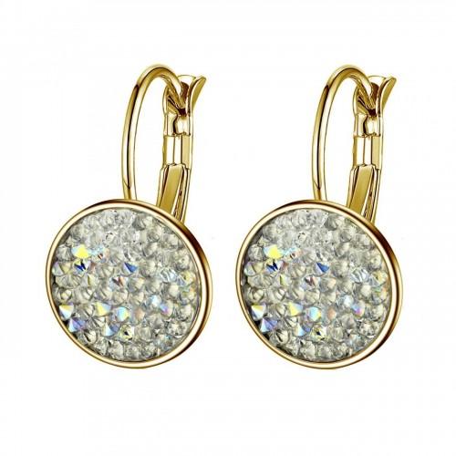 Zlacené náušnice s krystaly Crystals from Swarovski® CRYSTAL AB