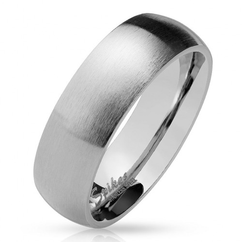 Ocelový prsten matný, šíře 6 mm (59)
