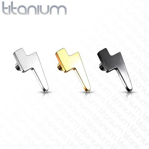 Ozdoba k dermálu TITAN, závit 1,6 mm (žluté zlato)
