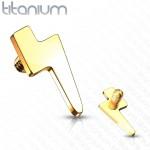 Ozdoba k dermálu TITAN, závit 1,6 mm (žluté zlato) [1]