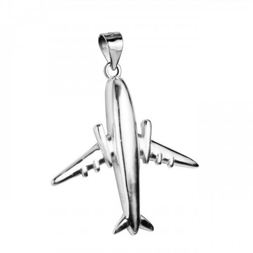 Stříbrný přívěsek - letadlo