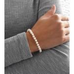 Perlový náramek z pravých říčních perel bílý 23001.1 [3]