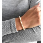 Perlový náramek z pravých říčních perel bílý 23002.3 [3]