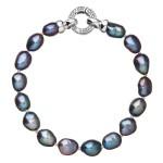 Perlový náramek z pravých říčních perel modrý 23011.3 [0]