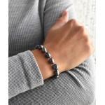 Perlový náramek z pravých říčních perel modrý 23011.3 [1]