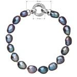 Perlový náramek z pravých říčních perel modrý 23011.3 [2]