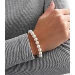 Perlový náramek z pravých říčních perel bílý 23006.1 [3]