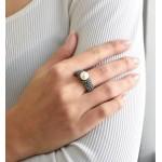 Stříbrný prsten s krystaly Swarovski bílá šedá 35032.3 [1]