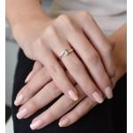 Zlatý prsten 85010.1 bílé zlato s briliantem [3]