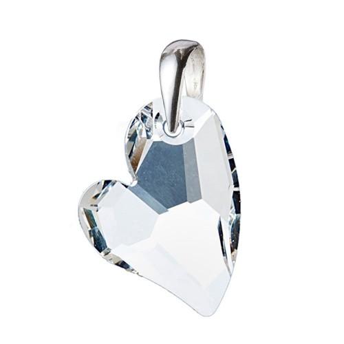 Stříbrný přívěsek srdce z dílny Crystals from Swarovski® Crystal