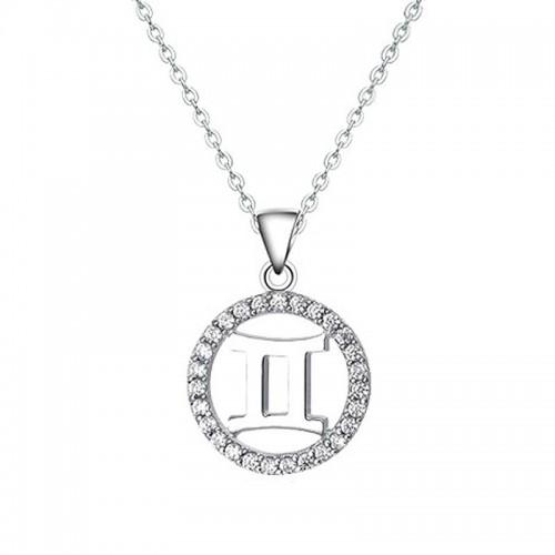 Stříbrný náhrdelník - znamení blíženci