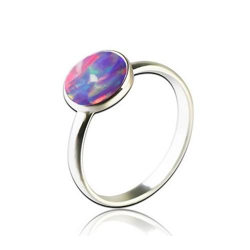 Stříbrný prsten s opálem (1,52 g, 56)