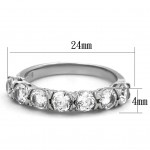 Ocelový prsten se zirkony (52) [7]