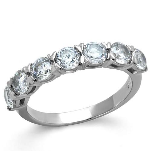 Ocelový prsten se zirkony (52)