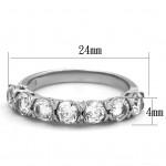 Ocelový prsten se zirkony (52) [3]