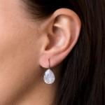 Stříbrné náušnice visací s krystaly Swarovski růžová slza 31231.7 rose water opal [1]