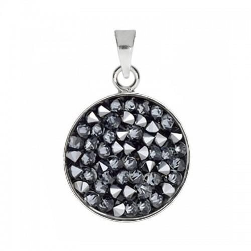Přívěsek Crystals from Swarovski® 15mm, GREY METALISEÉ