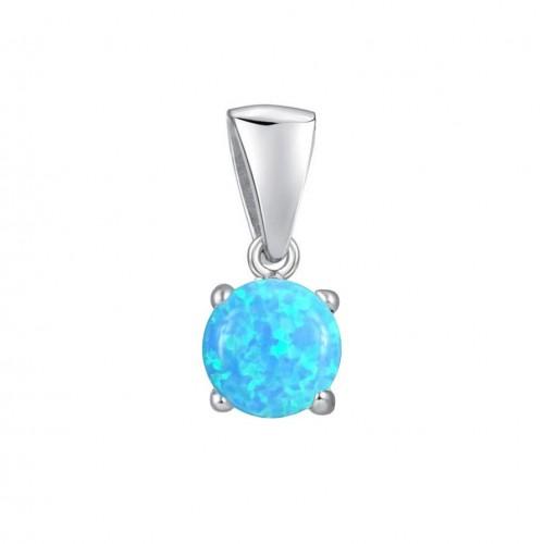 Stříbrný přívěsek s modrým opálem