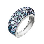 Stříbrný prsten s krystaly Swarovski modrý 35031.3 blue style [0]