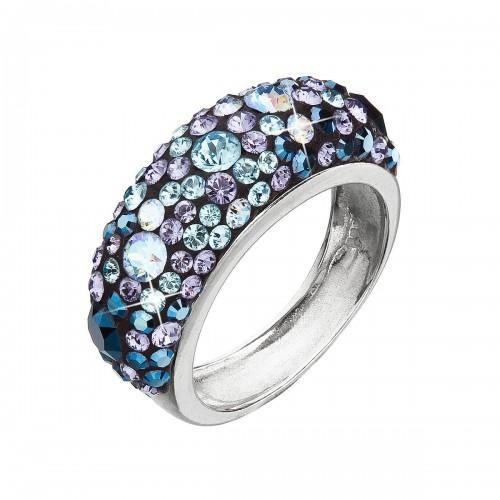 Stříbrný prsten s krystaly Swarovski modrý 35031.3 blue style