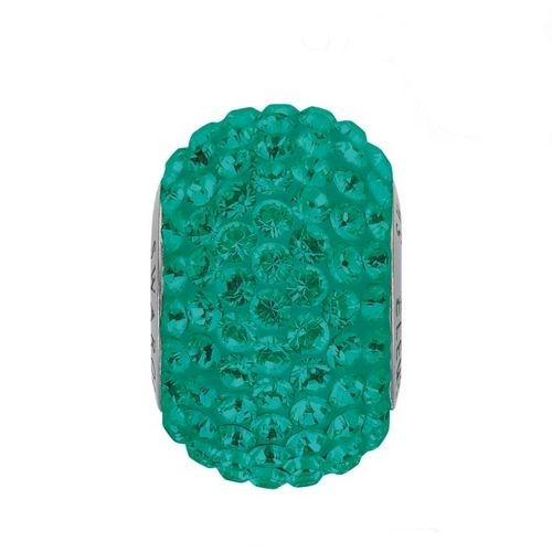 Navlékací přívěsek korálek s krystaly Swarovski®, Emerald