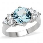 Ocelový prsten s tyrkysovým kamenem (57) [0]