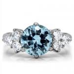 Ocelový prsten s tyrkysovým kamenem (57) [2]