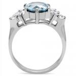 Ocelový prsten s tyrkysovým kamenem (57) [3]