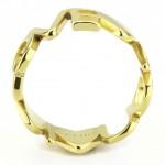 Zlacený ocelový prsten LOVE (52) [2]