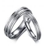 Snubní prsteny chirurgická ocel s pískováním [0]