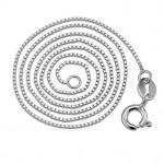 Stříbrný řetízek - čtvercový, tl. 0,65 mm, délka 40 cm [1]