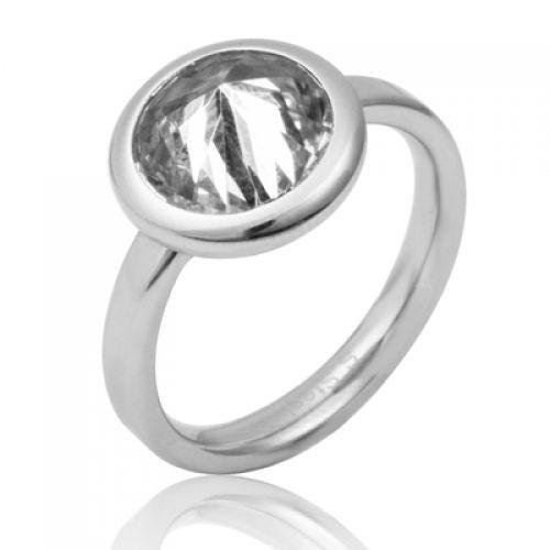 Prsten chirurgická ocel s kamínkem RSS450
