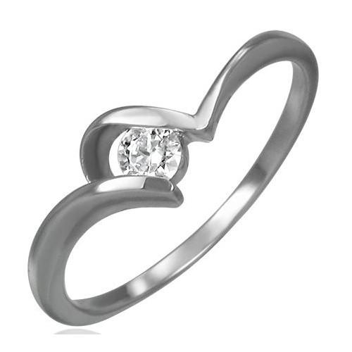 Prsten chirurgická ocel s kamínkem LZRC045