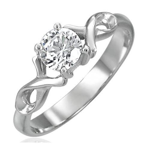 Prsten chirurgická ocel s kamínkem LZRC049