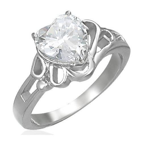 Prsten chirurgická ocel s kamínkem LZRC037