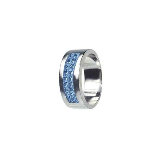 Prsten chirurgická ocel s krystaly Swarovski RSSW01 light sapphire