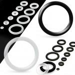 Piercing - náhradní černá gumička na plug (černá, 10 mm) [0]